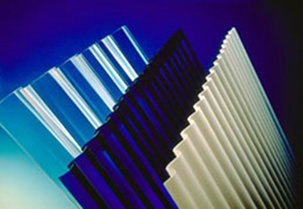 Corrugated polycarbonate sheets